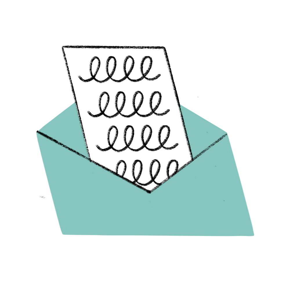 icon sammelbestellung brief