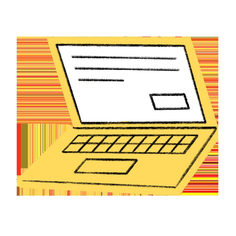 onlineshop icon laptop