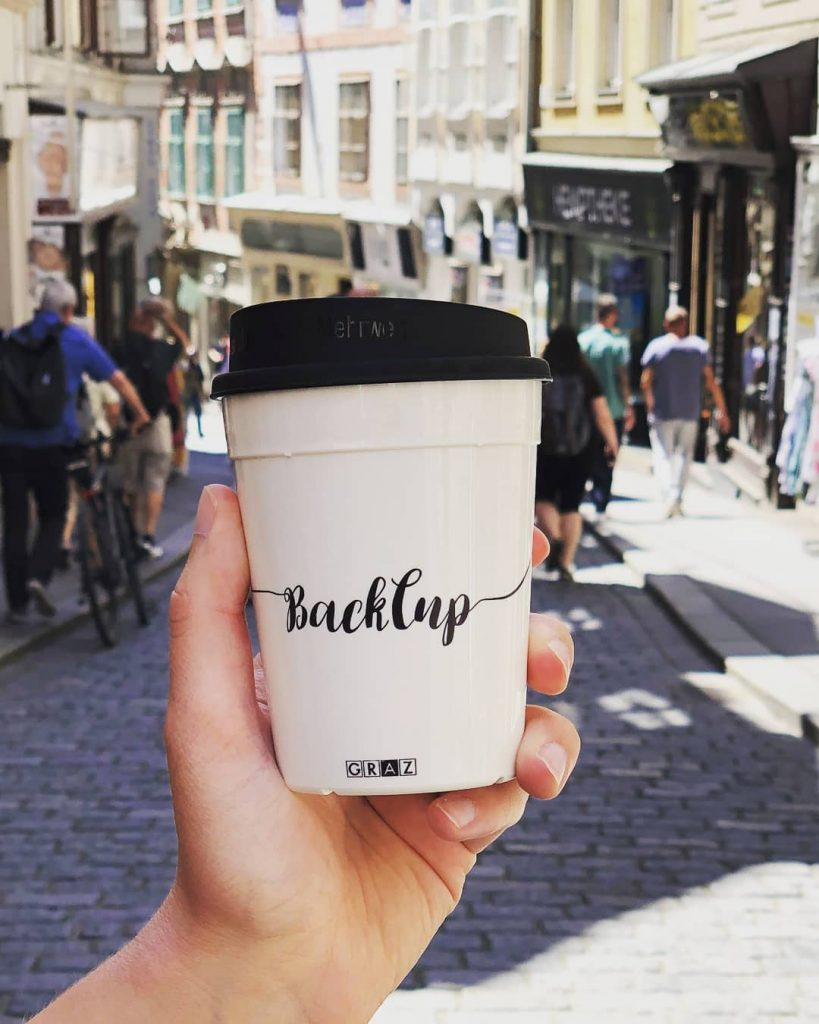 backcup graz in der hand