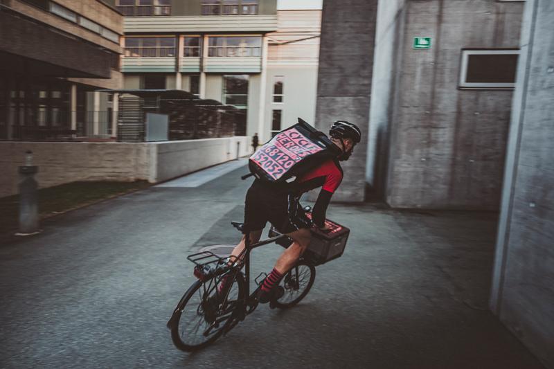cycleheroes beim zustellen