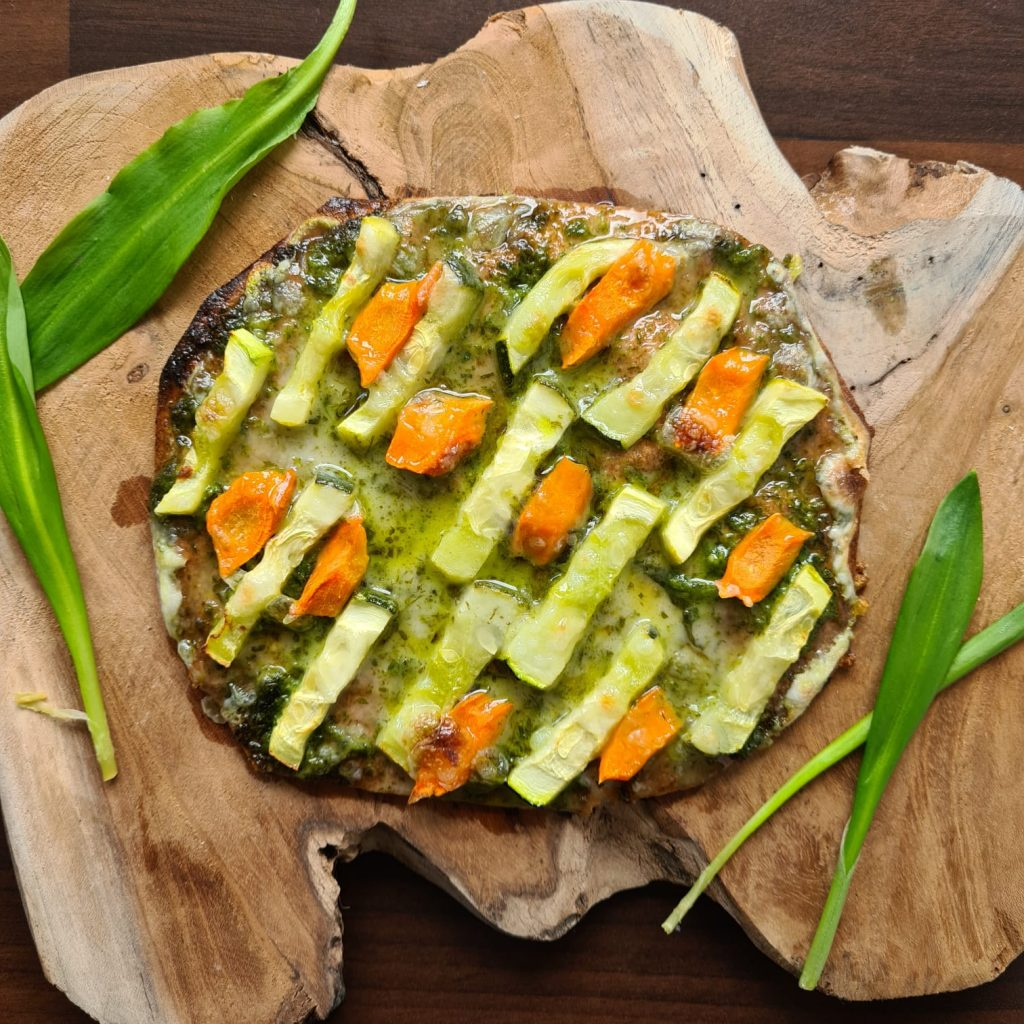 Low Carb Baerlauch Pizza