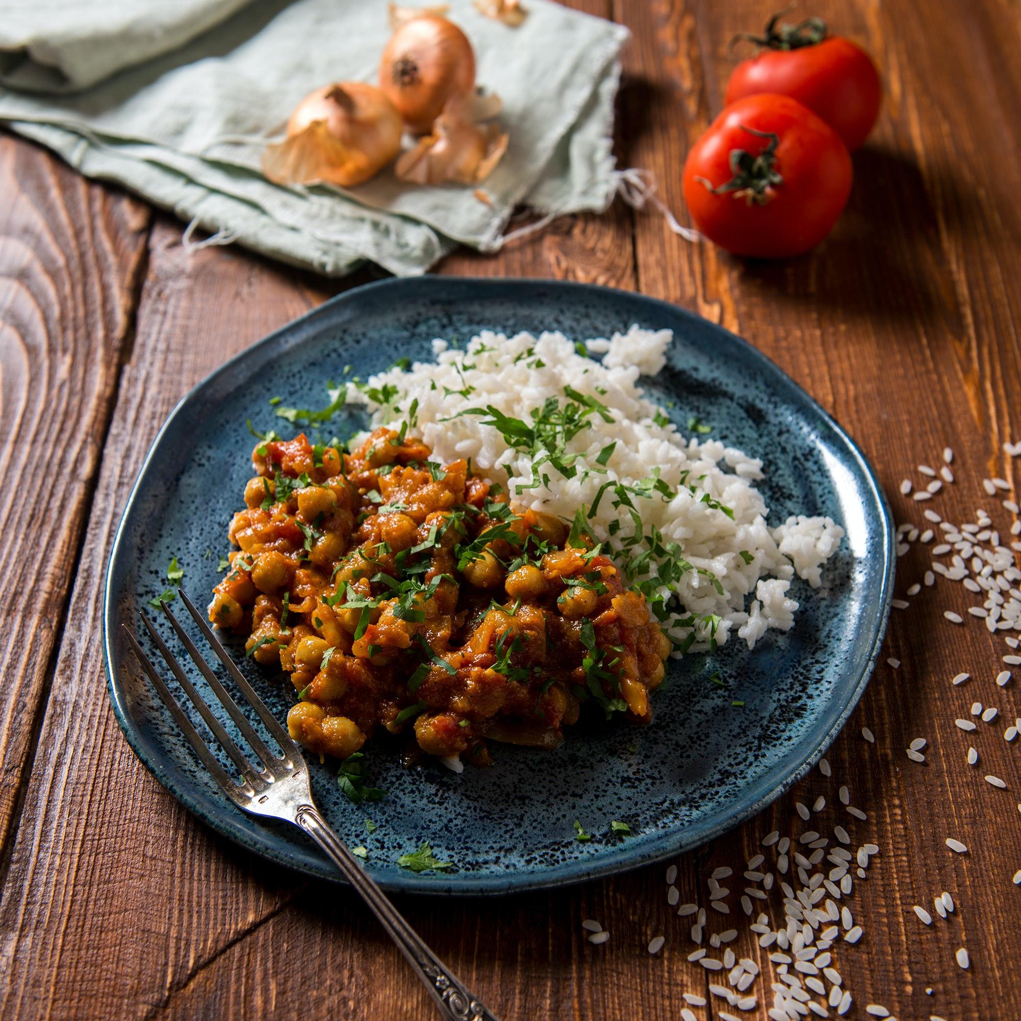 Spinat-Kichererbsen-Curry