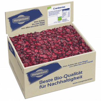 3,5 Kilo Papierbox Bio Cranberries getrocknet