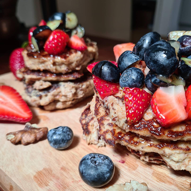 Erdbeer-Topfen-Pancakes