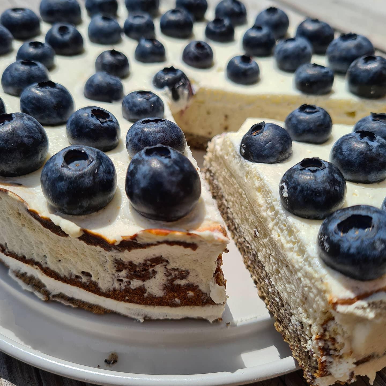 Mohn-Vanille-Cheesecake