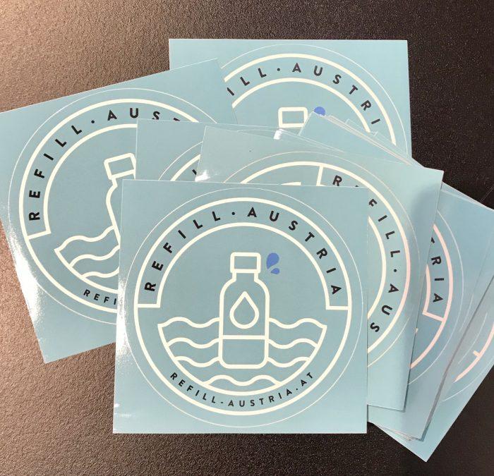 Refill Austria Sticker