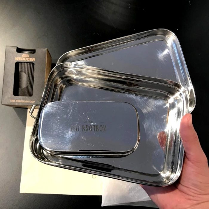 Zero Waste Kit das Gramm Basics Edelstahl-Brotbox mit Snackbox