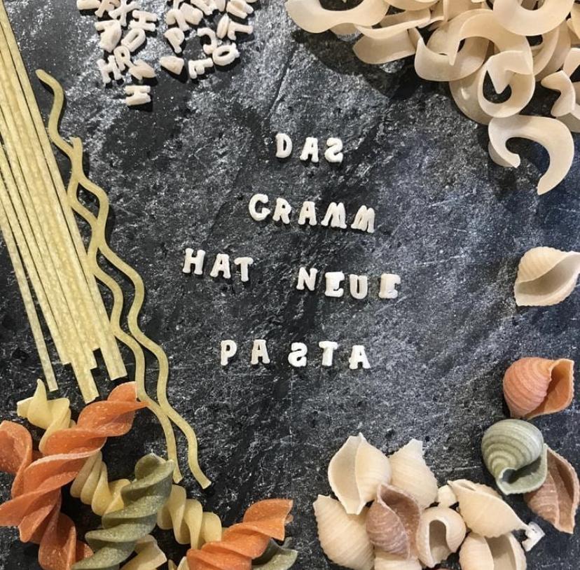 Das Gramm hat neue Pasta